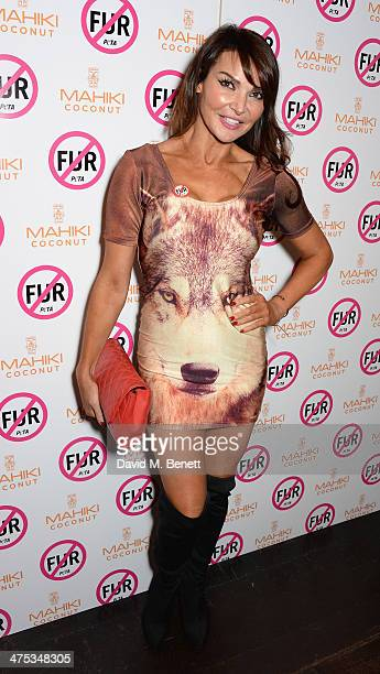 Lizzie Cundy attends as PETA host a fur free night at Mahiki on February 27 2014 in London England