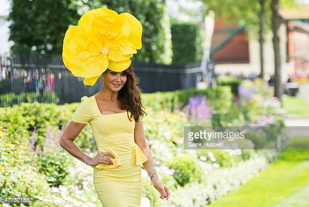 Lizzie Cundy attends day 1 of Royal Ascot at Ascot Racecourse on June 16 2015 in Ascot England