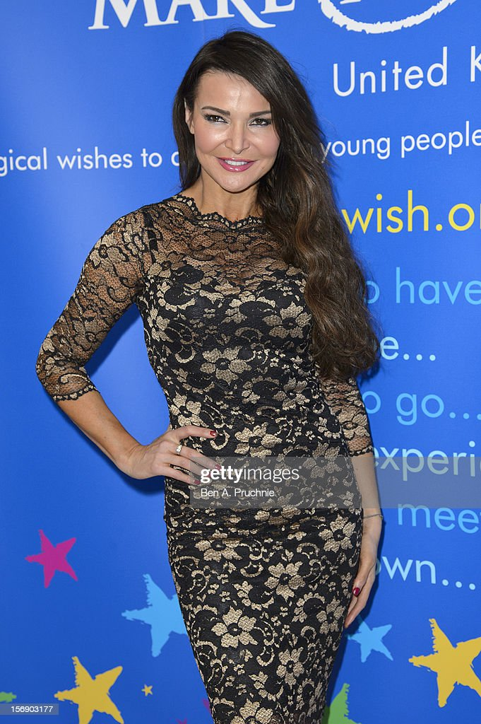Lizzie Cundy attends Make-A-Wish Foundation UK Winter Ball 2012 held at The Dorchester on November 24, 2012 in London, England.