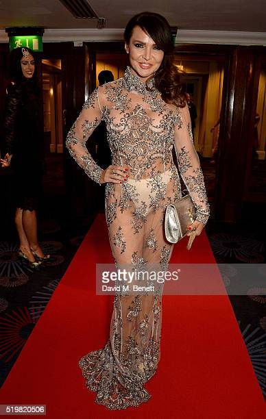 Lizzie Cundy attends the 6th Annual Asian Awards at The Grosvenor House Hotel on April 8 2016 in London England