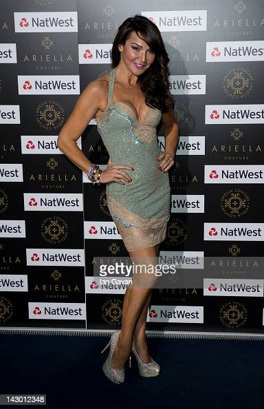 Lizzie Cundy attends the Ariella Couture fashion show at 250 Bishopsgate on April 17 2012 in London England