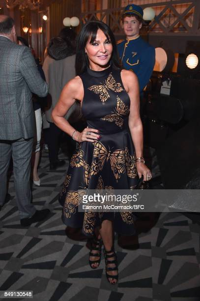 Lizzie Cundy attends the Aspinal of London presentation during London Fashion Week September 2017 on September 18 2017 in London England