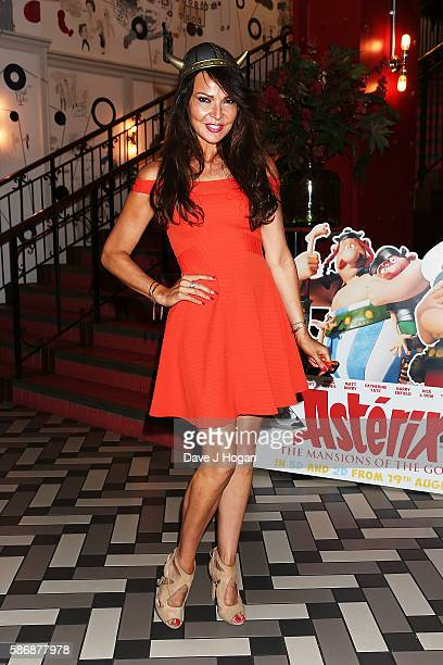 Lizzie Cundy attends the gala screening of 'Asterix The Mansions of the Gods' at Picturehouse Central on August 7 2016 in London England