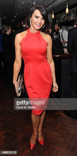 Lizzie Cundy attends the launch of new book 'My Fight To The Top' by Ultimo founder Michelle Mone at Salmontini on March 12 2015 in London England