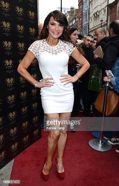Lizzie Cundy attends the Lipsy VIP Fashion Awards 2013 at DSTRKT on May 29 2013 in London England