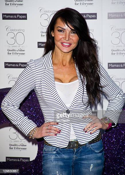 Lizzie Cundy attends the Mamas Papas 30th anniversary party at the Mamas and Papas Store on March 7 2011 in London England