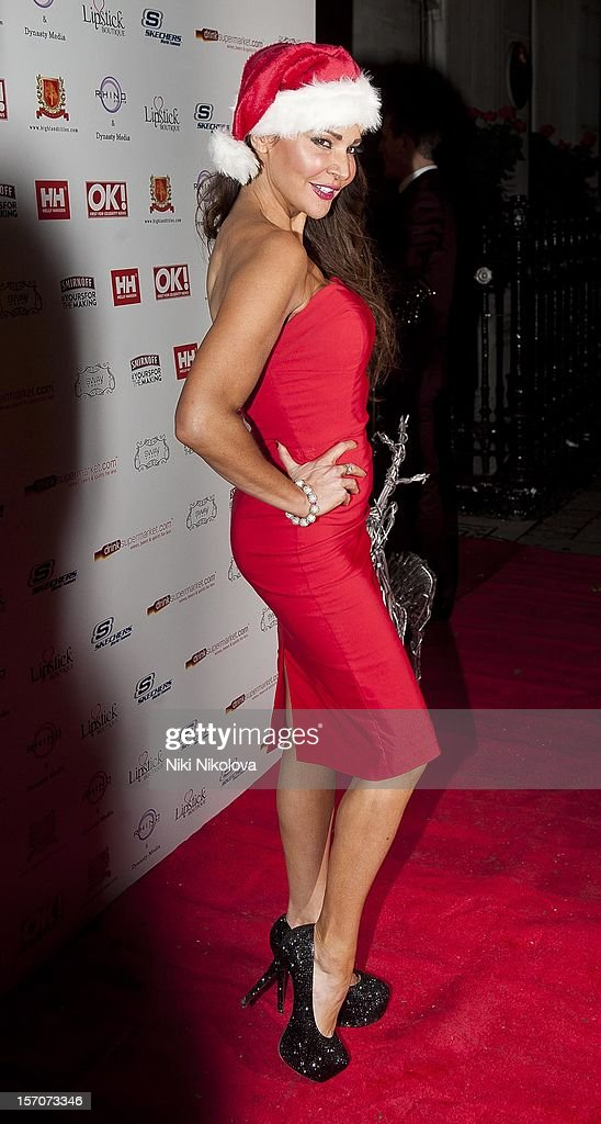 Lizzie Cundy attends the OK! Magazine Christmas Party on November 27, 2012 in London, England.