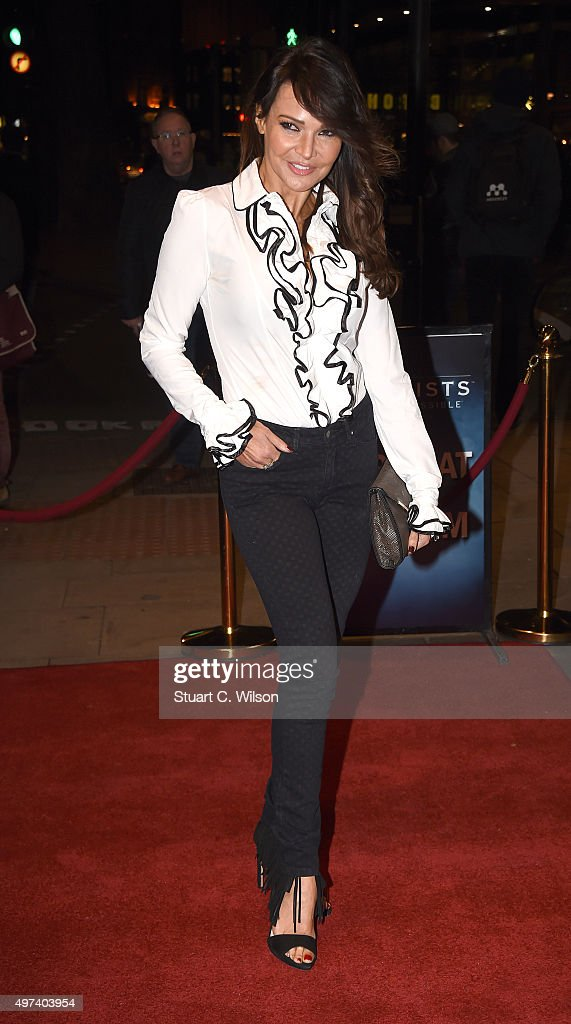 Lizzie Cundy attends the press ngiht for 'The Illusionists' at Shaftesbury Theatre on November 16 2015 in London England