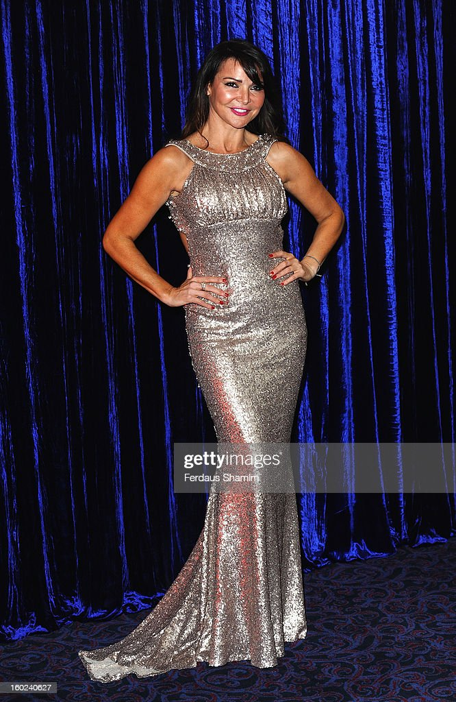 Lizzie Cundy attends the Retail Trust London Ball at Grosvenor House, on January 28, 2013 in London, England.