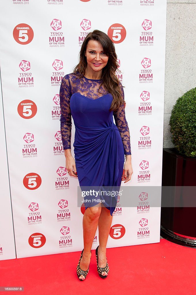 <a gi-track='captionPersonalityLinkClicked' href=/galleries/search?phrase=Lizzie+Cundy&family=editorial&specificpeople=4697352 ng-click='$event.stopPropagation()'>Lizzie Cundy</a> attends the Tesco Mum of the Year awards at The Savoy Hotel on March 3, 2013 in London, England.
