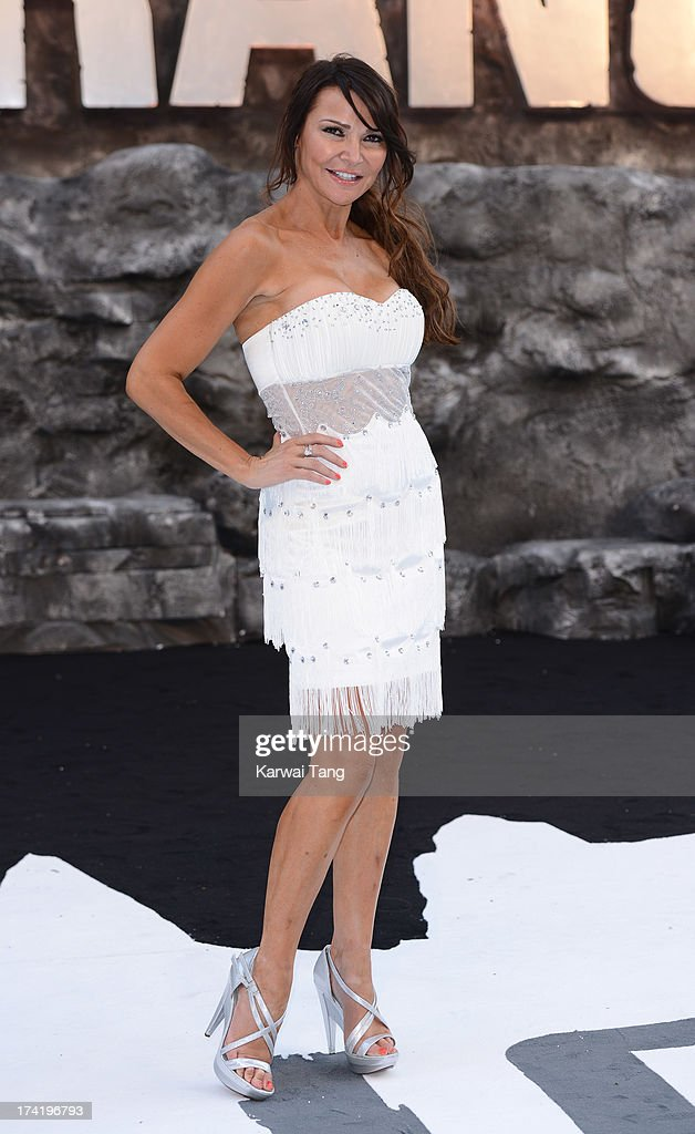 Lizzie Cundy attends the UK Premiere of 'The Lone Ranger' at Odeon Leicester Square on July 21, 2013 in London, England.