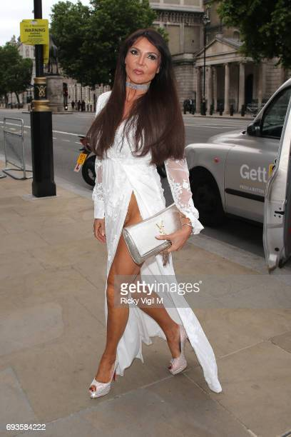 Lizzie Cundy attends Together for Short Lives Midsummer Ball at Banqueting House on June 7 2017 in London England