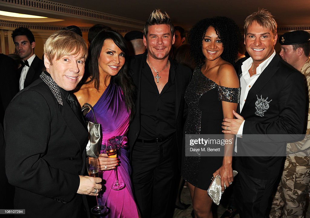 Lizzie Cundy, Phil Turner, Tupele Dorgu and Gary Cockerill attend Fashion For The Brave at The Dorchester Hotel on October 26, 2010 in London, England.