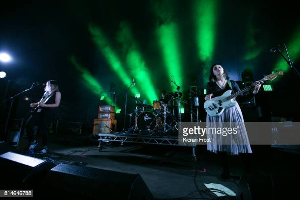 Lizzie Fitzpatrick and Naomi Macleod of Bitch Falcon perform at Longitude Festival at Marlay Park on July 14 2017 in Dublin Ireland