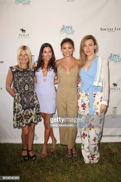 Lizzie Grubman Christine Montanti Christine Evangelista and Devorah Rose attend the First Annual Polo Hamptons Match at Southampton Polo Club on June...