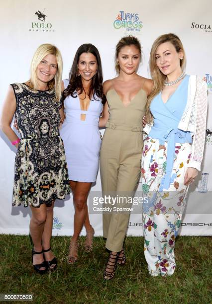 Lizzie Grubman Christine Montanti Christine Evangelista and Devorah Rose attend the 2017 Polo Hamptons at Southampton Polo Club on June 24 2017 in...
