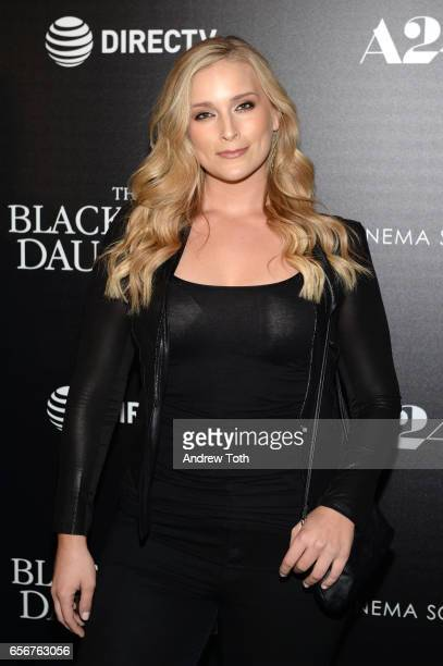 Lizzie Miller attends a screening of 'The Blackcoat's Daughter' hosted by A24 and DirecTV with The Cinema Society at Landmark Sunshine Cinema on...