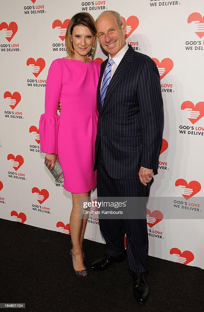 Lizzie Tisch and Jonathan Tisch attend God's Love We Deliver 2013 Golden Heart Awards Celebration at Spring Studios on October 16, 2013 in New York City.