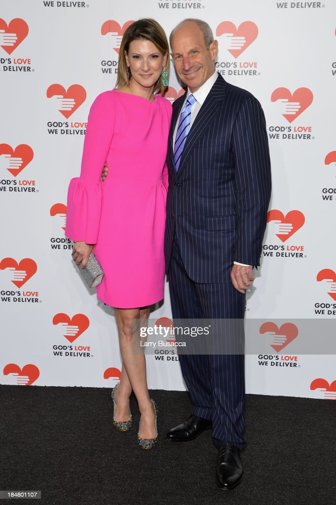 Lizzie Tisch and Jonathan Tisch attend God's Love We Deliver 2013 Golden Heart Awards Celebration at Spring Studios on October 16 2013 in New York...