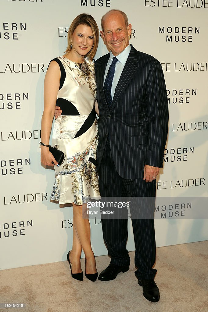 Lizzie Tisch and Jonathan Tisch attend the Estee Lauder 'Modern Muse' Fragrance Launch Party at the Guggenheim Museum on September 12 2013 in New...