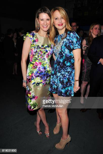 Lizzie Tisch and Nina Rennert Davidson attend JONATHAN TISCH Book Launch Party for 'Citizen You' at The Museum of Modern Art on May 6 2010 in New...