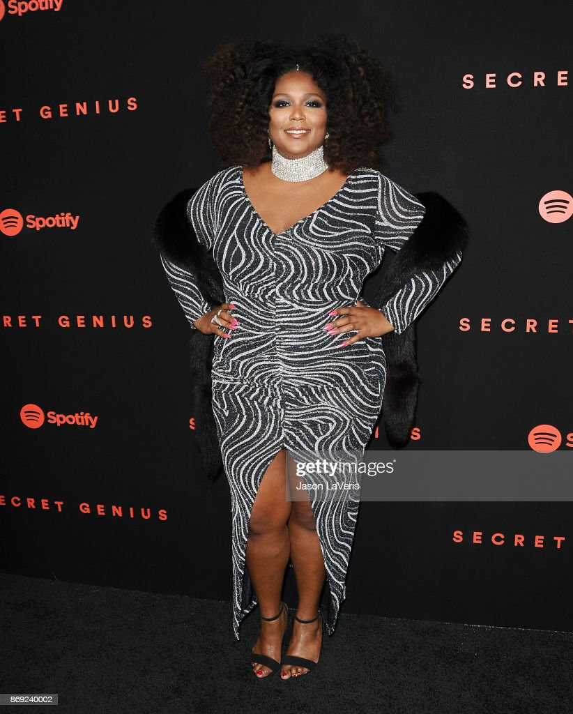 Lizzo attends Spotify's inaugural Secret Genius Awards at Vibiana Cathedral on November 1, 2017 in Los Angeles, California.