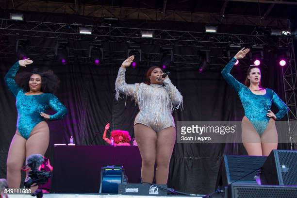 Lizzo performs during Day 2 of Music Midtown at Piedmont Park on September 17 2017 in Atlanta Georgia