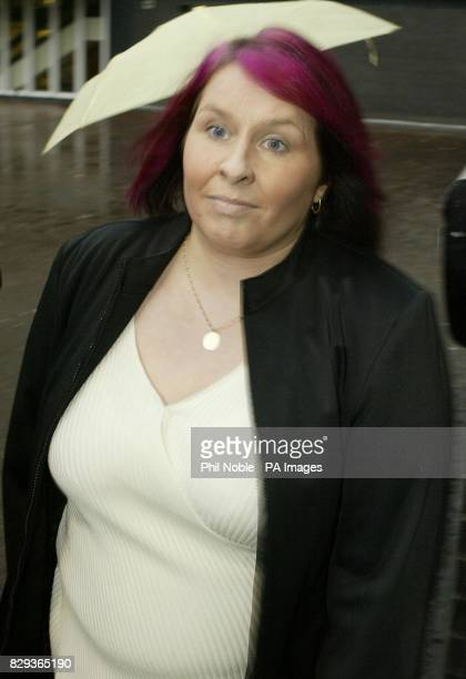 Lizzy Bardsley star of TV's 'Wife Swap' arrives at Rochdale Magistrates court to answer charges of alleged benefit fraud
