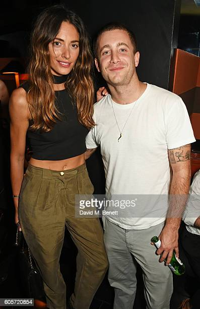 Lizzy Bowden and Tyrone Wood attend as Blakes hotel celebrates the launch of Blakes Below a luxury bar and lounge designed by Anouska Hempel on...