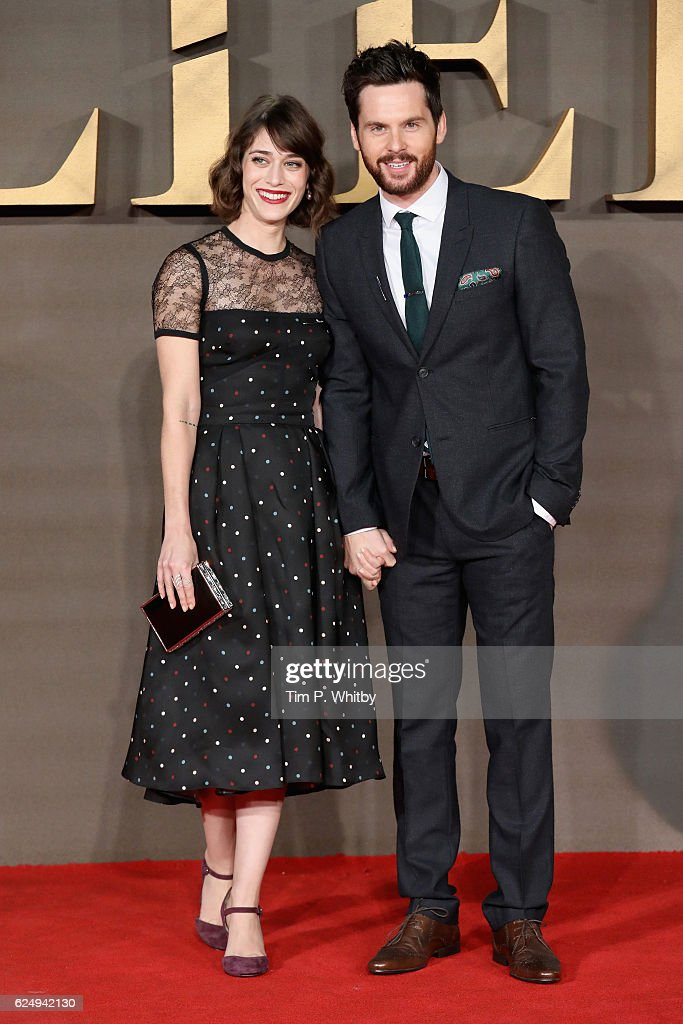 Lizzy Caplan and Tom Riley attend the UK Premiere of 'Allied' at Odeon Leicester Square on November 21, 2016 in London, England.