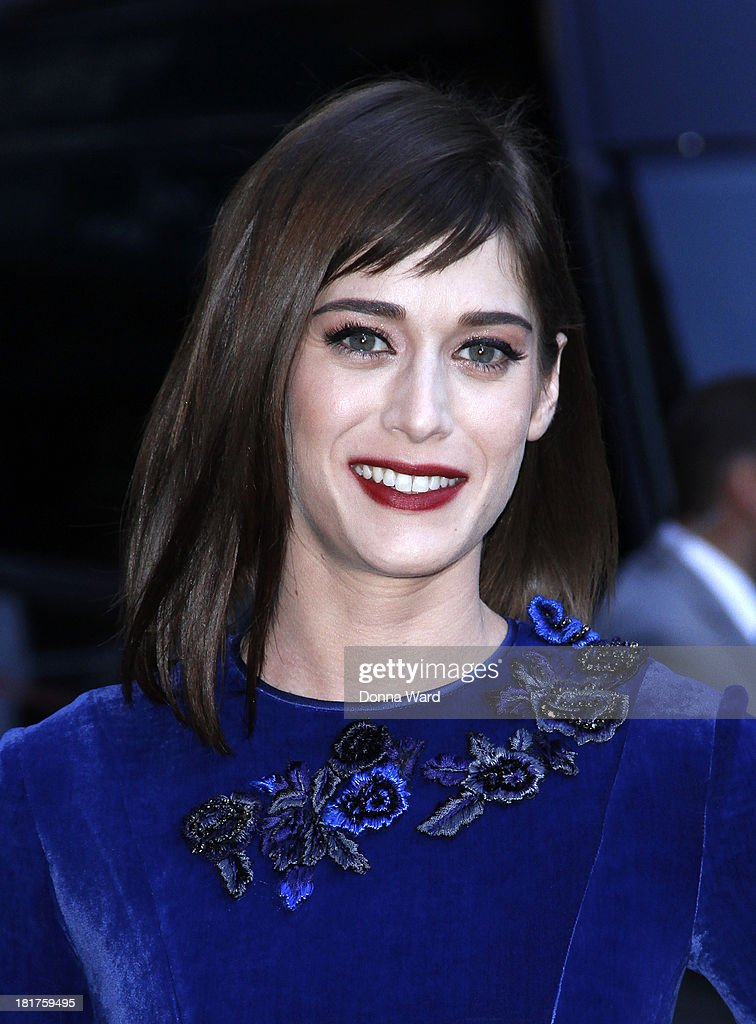 <a gi-track='captionPersonalityLinkClicked' href=/galleries/search?phrase=Lizzy+Caplan&family=editorial&specificpeople=599560 ng-click='$event.stopPropagation()'>Lizzy Caplan</a> arrives for the 'Late Show with David Letterman' at Ed Sullivan Theater on September 24, 2013 in New York City.