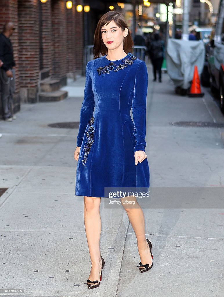 LIzzy Caplan arrives to 'Late Show with David Letterman' at Ed Sullivan Theater on September 24, 2013 in New York City.