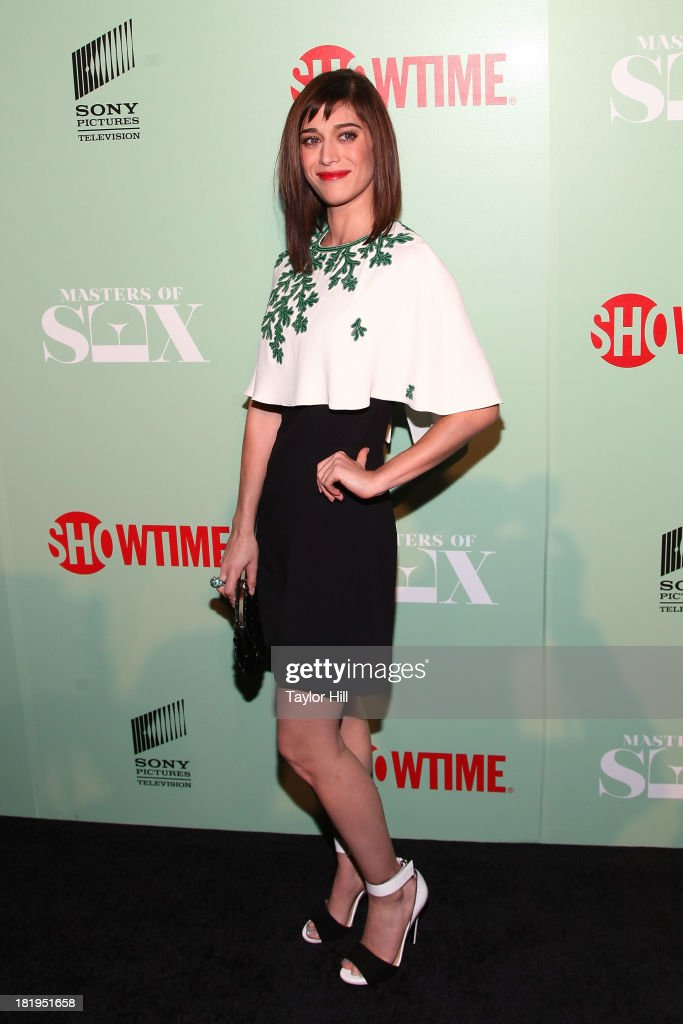 <a gi-track='captionPersonalityLinkClicked' href=/galleries/search?phrase=Lizzy+Caplan&family=editorial&specificpeople=599560 ng-click='$event.stopPropagation()'>Lizzy Caplan</a> attends 'Masters of Sex' New York series premiere at The Morgan Library & Museum on September 26, 2013 in New York City.