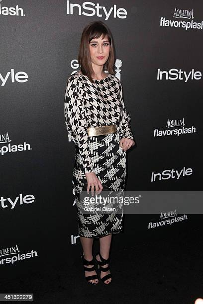 Lizzy Caplan attends The Hollywood Foreign Press Association And InStyle Celebrates The 2014 Golden Globe Awards Season at Fig Olive Melrose Place on...
