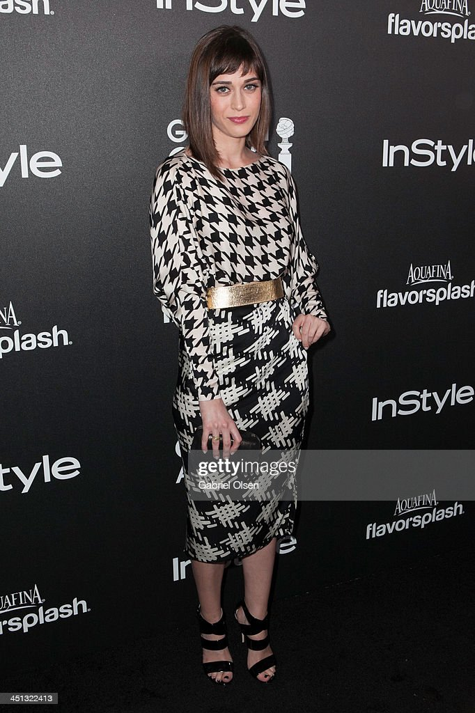 Lizzy Caplan attends The Hollywood Foreign Press Association (HFPA) And InStyle Celebrates The 2014 Golden Globe Awards Season at Fig & Olive Melrose Place on November 21, 2013 in West Hollywood, California.