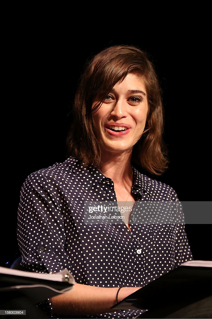 Lizzy Caplan attends The Sundance Institute Feature Film Program Screenplay Reading Of 'Life Partners' by lab fellows Susana Fogel and Joni Lefkowitz at Actors' Gang at the Ivy Substation on December 12, 2012 in Culver City, California.