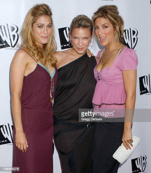 Lizzy Caplan Kiele Sanchez and Jennifer Esposito during 2005 WB Network's All Star Celebration Arrivals at The Cabana Club in Hollywood California...