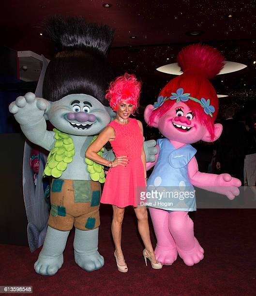 Lizzy Cundy attends the multimedia screening of 'Trolls' at Cineworld Leicester Square on October 9 2016 in London England