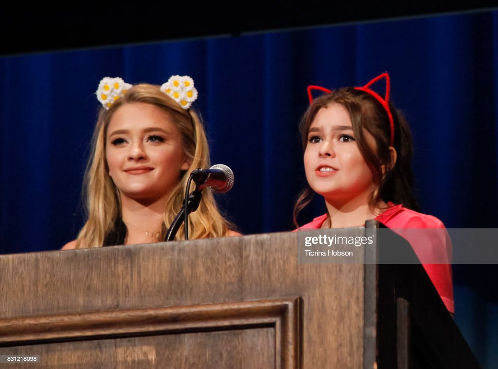 Lizzy Greene and Addison Riecke attend the 1st Annual CatCon Awards Show at the 3rd Annual CatCon at Pasadena Convention Center on August 13, 2017 in Pasadena, California.