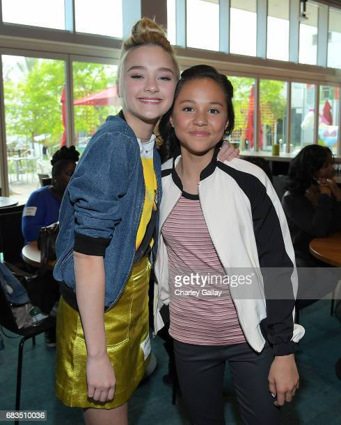 Lizzy Greene and Breanna Yde attend Nickelodeon's Sizzling Summer Camp Special Event on May 15 2017 in Burbank California