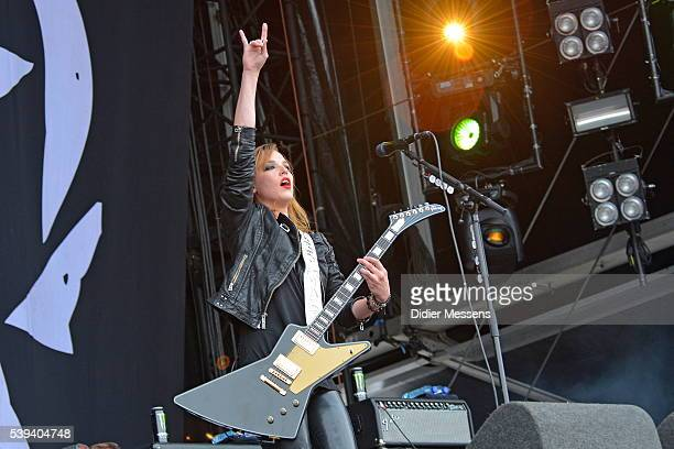 Lizzy Hale of Halestorm performs on stage during day 2 of the Pinkpop Festival on June 11 2016 in Landgraaf Netherlands