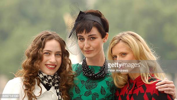 Lizzy Jagger Erin O'Connor and Laura Bailey promotes the launch of Marks Spencer's new televison advertising campaign on London's South Bank