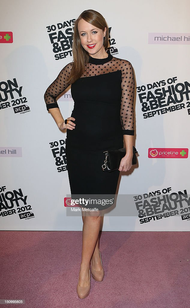 Lizzy Lovette poses during the 30 Days of Fashion & Beauty Launch at Sydney Town Hall on August 30, 2012 in Sydney, Australia.
