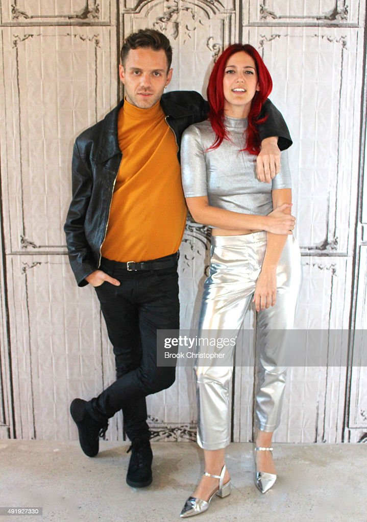 Lizzy Plapinger and Max Hershenow of the band MS MR attend AOL Build to discuss their latest release 'How Does It Feel' at AOL Studios In New York on...
