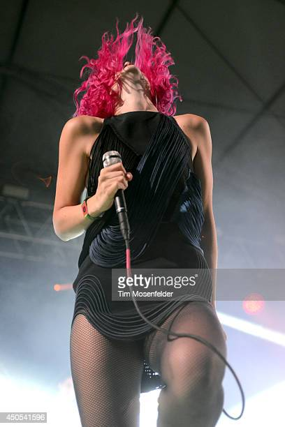 Lizzy Plapinger of MS MR performs during the 2014 Bonnaroo Music Arts Festival on June 12 2014 in Manchester Tennessee