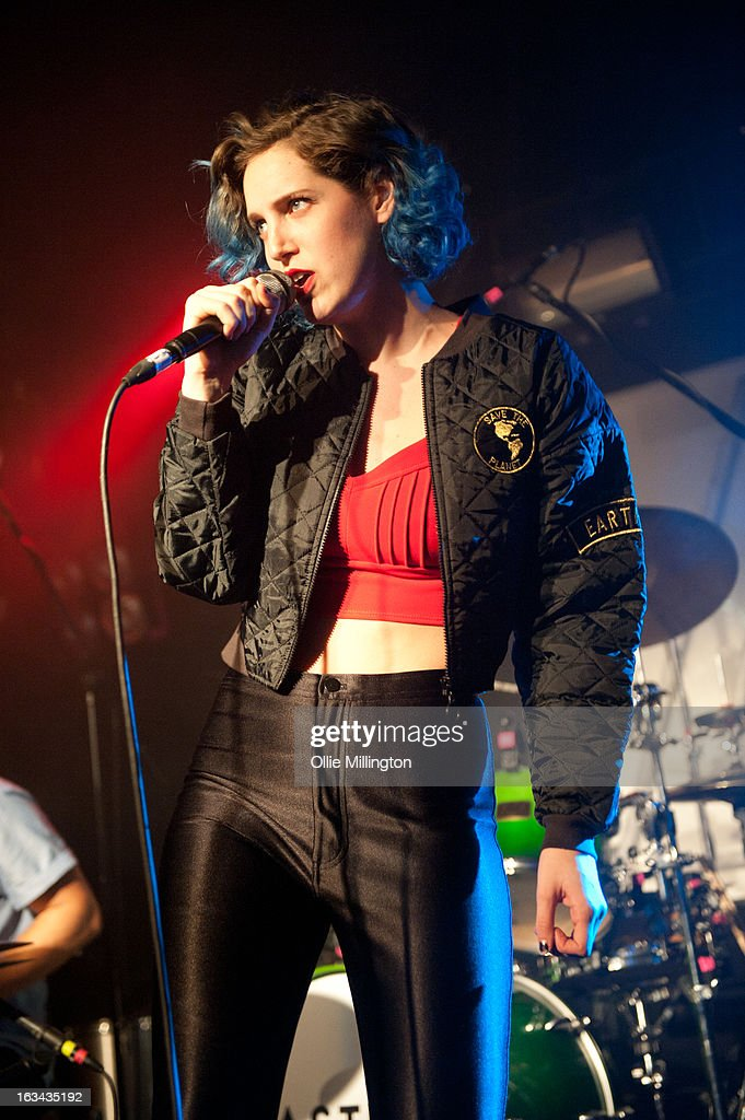 Lizzy Plapinger of MS MR performs supporting Bastille the night before their debut album 'Bad Blood' charts in the UK at The Institute on March 9, 2013 in Birmingham, England.