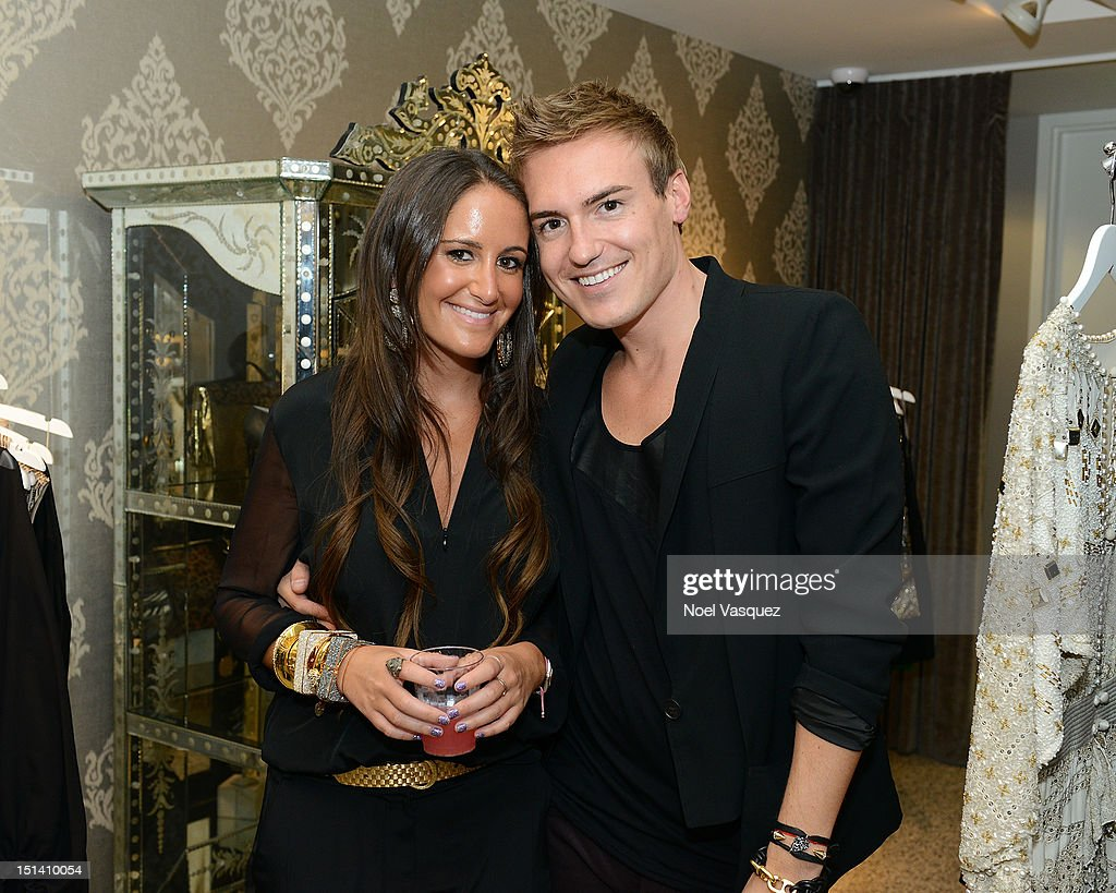 Lizzy Schwartz and Matthew Kegan attend Fashion's Night Out at Kyle by Alene Too on September 6, 2012 in Beverly Hills, California.