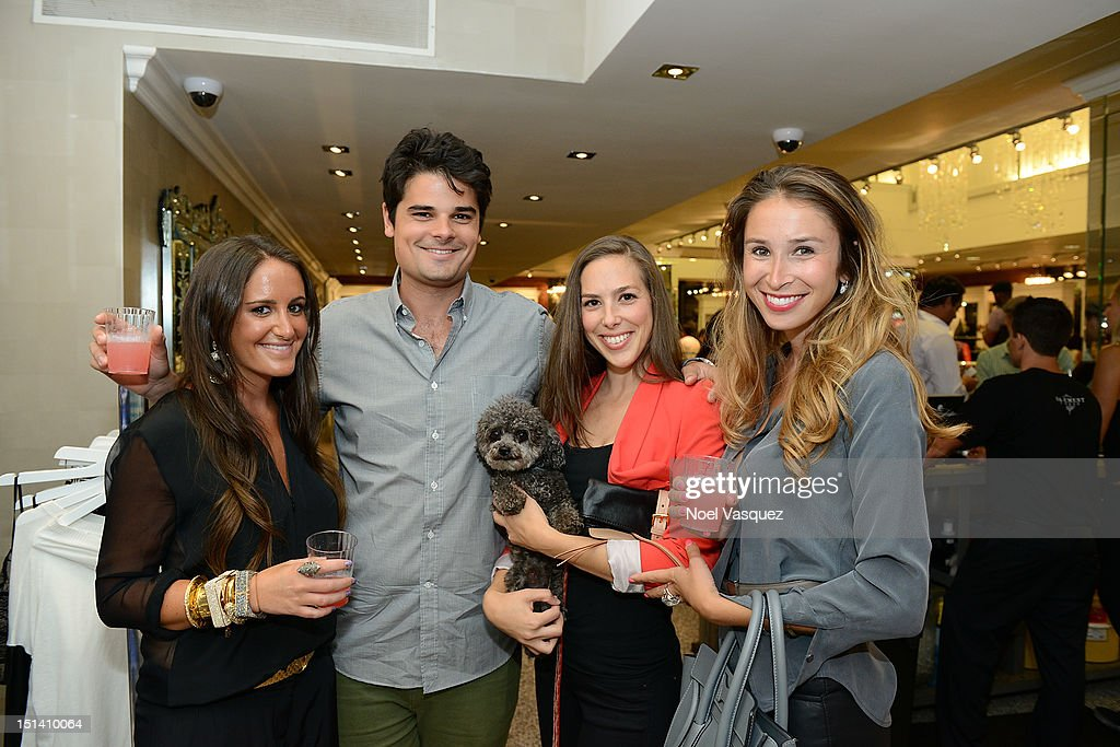 Lizzy Schwartz (L) attends Fashion's Night Out at Kyle by Alene Too on September 6, 2012 in Beverly Hills, California.