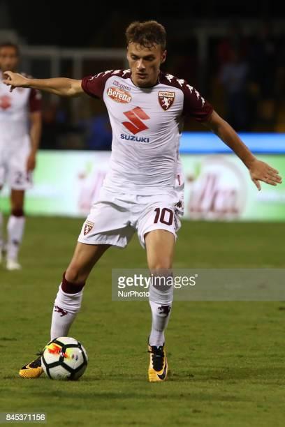 Ljajic Adem of Torino in action during the Serie A match between Benevento Calcio and Torino FC at Stadio Ciro Vigorito on September 10 2017 in...