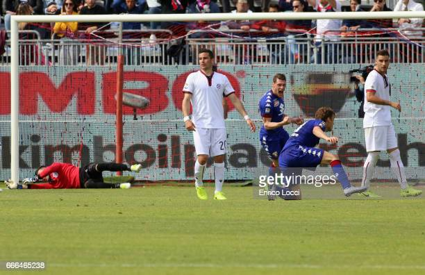 Ljajic Adem of Torino scores his goal 11 during the Serie A match between Cagliari Calcio and FC Torino at Stadio Sant'Elia on April 9 2017 in...
